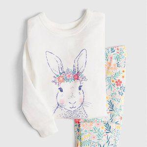 Baby Gap Toddler Girls Floral Bunny PJs Set 4T